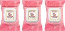 3 Pack Burts Bees Pink Grapefruit Facial Cleansing Towelettes 30 Count Each