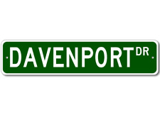 DAVENPORT Street Sign - Personalized Last Name Sign