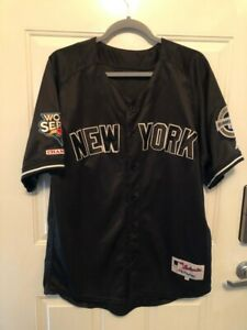 Majestic Authentic Black 2009 World Series New York Yankees #24 Size 50 XL Cano