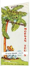 1946 Morgan Tours Mexico Travel Brochure Blue Bonnet Hotel Texas Pan American Hw