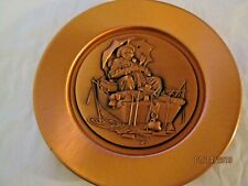 Vintage 1978 Norman Rockwell Gone Fishing Copper Plate With Coa 4th In Series