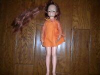 "1969 Vintage Ideal Toy Crissy Doll 18"" Original Dress Adjustable Hair"
