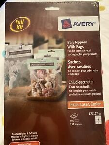 Avery Retail Packaging Bag Toppers With Bags Full Kit Create And Customise NEW