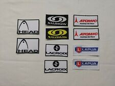 ECUSSON PATCH SALOMON SKI SNOWBOARD LACROIX HEAD ATOMIC  LAPUA esf ffs LOT DE 2