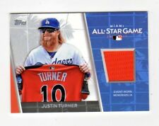 JUSTIN TURNER MLB 2017 TOPPS UPDATE ALL STAR STITCHES (LOS ANGELES DODGERS)