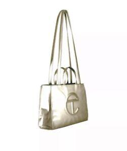 Gold Medium Telfar Shopping Bag
