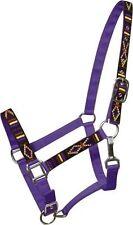PURPLE 2 Ply Nylon Horse Halter w/ Embroidered Navajo Design!!! NEW HORSE TACK!!