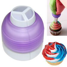 3 Color Coupler Cake Tools Bakeware Cupcake Fondant Decorating Bags Converter