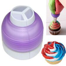 3 Color Coupler Cake Tools Bakeware Cupcake Fondant Decorating Bags Converter