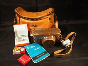 Occupied Japan Konica camera kit filters leather case original instructions