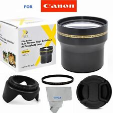 58MM HD 3.7X ZOOM LENS + GIFTS FOR CANON EOS REBEL 300D 350D 400D 450D T3 T3I T4