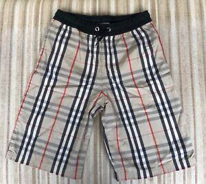 Burberry nova check swimwear boy's shorts. 10 years