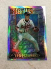 1996 Topps Finest Chipper Jones Rookie Mystery Refractor Card Braves