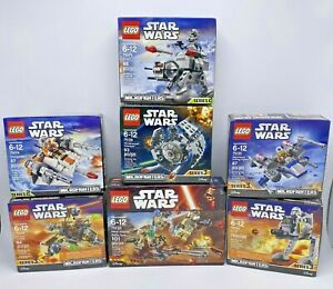 lego star wars RETIRED microfighters LOT 7 Sets NEW Sealed Priority Mail Shiping