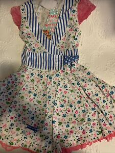 New girls dress Printed Mim-Pi  European Brand Dress-size 5y/ 105