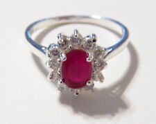 Spectacular Genuine Ruby Cocktail Ring Size 8.75    RR210