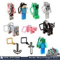 Mini Figures in a Minecraft style Hanger 3d  Keyring Belt clip