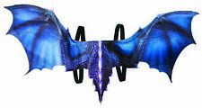 """Mythical Creatures Medieval Fantasy 36"""" Blue Dragon Wings Costume Accessory"""