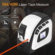 Handheld 2 in 1 40m Laser Rangefinder 5m Tape Measure Volume Area Distance Meter