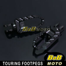 For Yamaha MT-03 06 07 08 09 10 11 12 Black Touring CNC Front Foot peg