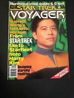 Vintage star trek voyager magazine Garrett Wang Cover Sept. 1996 Back Issue