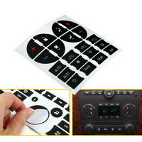 Radio+A/C Climate Control Button Repair Kit Decal Stickers For Chevrolet GMC