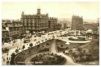 Vintage postcard Donegall Square Belfast Northern Ireland tram cars W E Walton