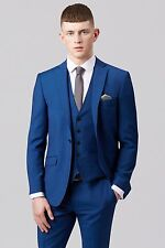 Custom Made Navy Blue Mens Groom Wedding Suits Tuxedos Best Man Suits Blazer