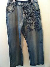 Vintage 90's Micheal Jordan Air shoe print mens jeans loose fit hip hop 38 x 34