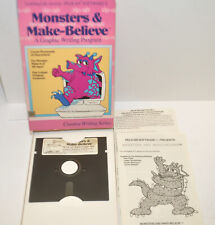"""RARE """"Monsters & Make-Believe"""" (1989) Aplle II Complete in Box Pelican Software"""