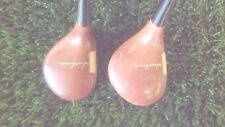 HONMA TOUR MODEL PERSIMMON TWO WOOD SET 1 & 3 GRAPHITE TITANIUM COMPOSITE SHAFTS