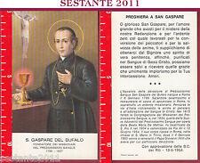 766 SANTINO HOLY CARD S. GASPARE DEL BUFALO MISSIONARI DEL PREZIOSISSIMO SANGUE