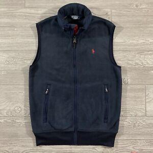 Polo Ralph Lauren Fleece Vest with Hood Mens Size Small