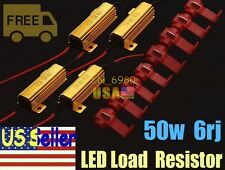 4pcs 50W 6ohm LED Load Resistor Fix Bulb Fast Hyper Flash Tail Signal Blinker US