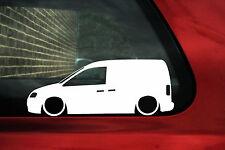2x  LOW caddy 2k (mk3 ) Outline sticker. For caddy TDI