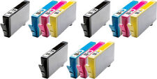 Set of 12 Chipped 364 XL Ink Cartridges for HP 5510 5515 C309a C410 B109a B110a