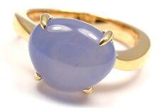 New! Authentic Bulgari Bvlgari Mediterranean Eden 18k Yellow Gold Calcedony Ring