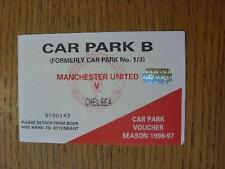 02/11/1996 Ticket: Manchester United v Chelsea  [Car Park B Voucher]. No obvious
