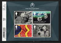 GREAT BRITAIN 2014 GREAT BRITISH FILM  MINIATURE SHEET WITH BARCODE,FINE USED