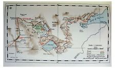 1935 Thesiger - MAPPING AWASH RIVER - Abyssinia Savage Tribes - 2 COLOR MAPS - 1