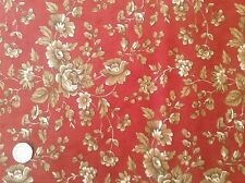 Moda Comfort Red Floral Cotton Quilting Fabric FQ 50cm x 54cm