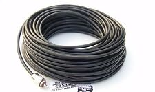 Mini8 30m Low loss 50 Ohm coax cable RG8x with 2 PL259 cb ham radio foam core