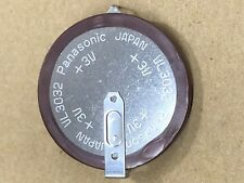 Panasonic VL3032 Rechargeable Lithium Coin Cell Battery with Solder Tabs