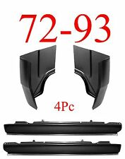 72 93 4Pc Dodge Extended Rocker & Regular Cab Corner Kit, 2 Door Ram Truck
