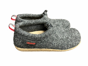 GIESSWEIN 41 W10, M8 Charcoal Gray Ultra Comfort Vent Wool Slippers NWOB