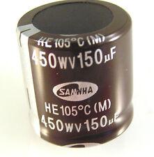 Condensador electrolítico Samwha él 450V 150uf 105'C HE2W157M30030HC100 OL0253