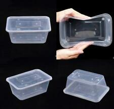 Plastic Food Containers Takeaway Tubs Microwave Freezer Safe Storage Boxes +LIDS