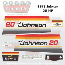1979 Johnson 20 HP Sea-Horse Outboard Reproduction 16 Pc Marine Vinyl Decals
