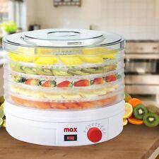 Essiccatore Elettrico Frutta Verdura Cibo 5 Ripiani Termostato Regolabile Max