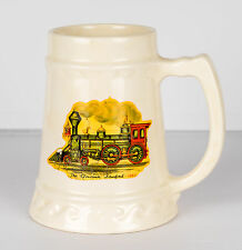 Governor Stanford Steam Locomotive Train Ceramic Beer Stein